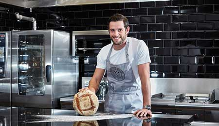 From the pitch to the proving drawer: Nick MacLeod joins Angela Gray's Cookery School